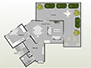 Layout of the apartment's 1st floor
