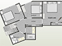 Layout of the apartment's 2nd floor