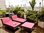 Sun chairs on the terrace