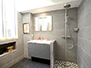 Second bathroom with a walk-in shower