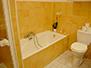 Bathtub and toilet in main bathroom
